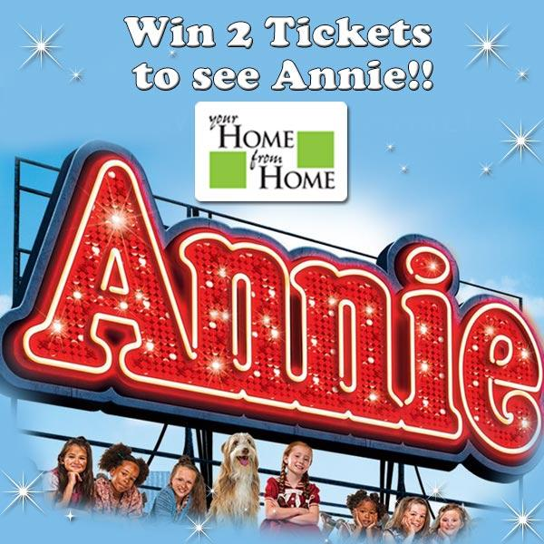 Win 2 tickets to see Annie